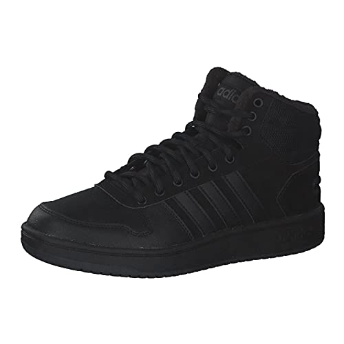 adidas Hoops 2.0 Mid, Herren Basketballschuhe, Schwarz (Cblack/Cblack/Carbon Cblack/Cblack/Carbon), 39 1/3 EU (6 UK)