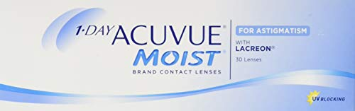 Acuvue 1-Day Acuvue Moist For Astigmatism Tageslinsen weich, 30 Stück/ BC 8.5 mm / DIA 14.5 mm/ CYL -1.75 / ACHSE 130 / -0.5 Dioptrien