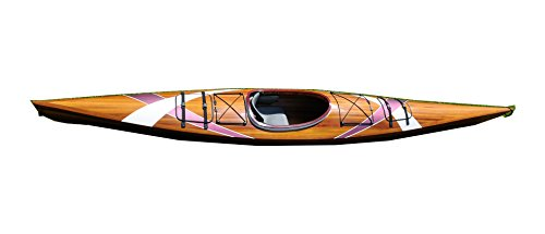 Traditional Handmade Cedar Kayak with Stripes  detail review