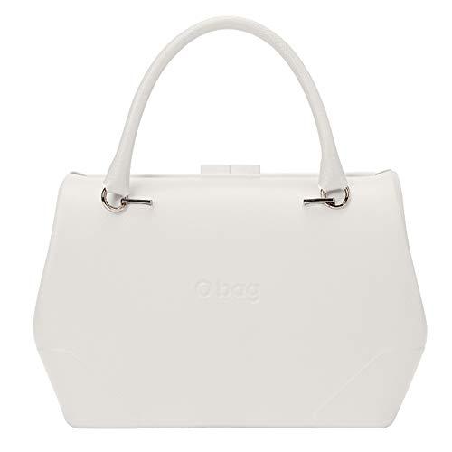 Bolso O bag doc blanco de mano cierre clip