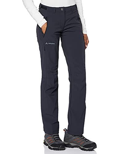 Vaude Farley Stretch, Pantalones de acampada y senderismo para mujer, Negro (Black), ES : XXS (Talla del fabricante: 34)