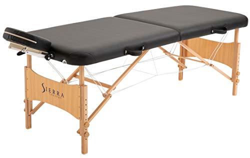 SierraComfort Sierra Comfort Preferred Portable Massage Table (Black), SC-501A