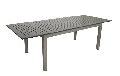 DEGAMO DEGAMO Ausziehtisch BAJAZZO 175/245x100cm, Aluminium grau
