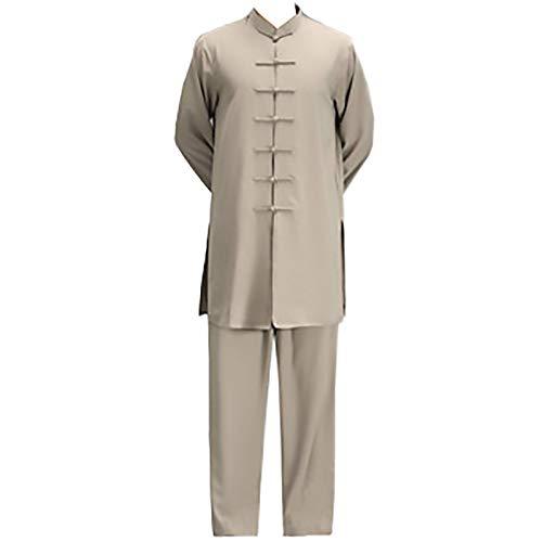 XYW Traje Tang - Tai Chi Traje Chino Traje Formal Traje para Hombre Tai Chi Traje Ropa Tradicional (Color : Yellow, Size : Medium)