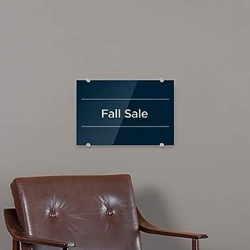 Basic Navy Premium Acrylic Sign CGSignLab 27x18 Fall Sale