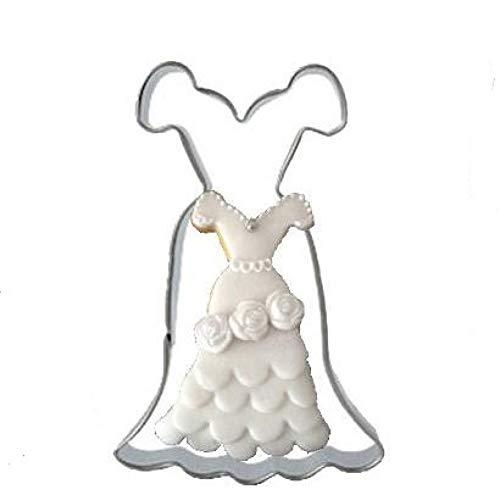 GMTEXTILES 1PcEdelstahl Metall Kleid Cookie Küche Backgeschirr DIY Craft Gebäck Keks Form Farbe zufällig