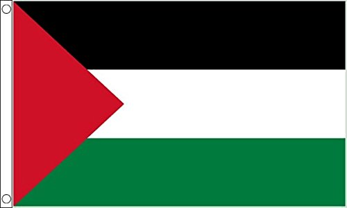 HUGE!!! 8ft x 5ft (240 x 150 cm) Palestine Palestinian 100% Polyester Material Flag Banner Ideal For Pub Club School Festival Business Party Decoration by UKFlagShop