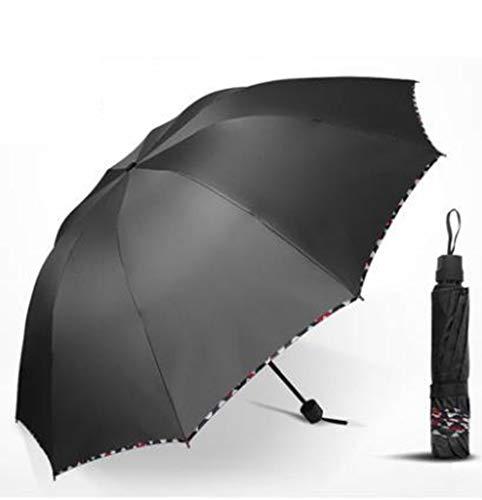 WJYZ Paraguas Paraguas Nano De 125 Cm. Mano De Obra Fina Paraguas De Lluvia Plegable Automático Paraguas Doble De Fibra De Carbono Ultraligero, 02
