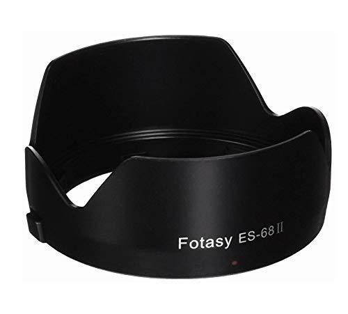 Fotasy Dedicated Flower Bayonet Lens Hood for Canon EF 50mm f/1.8 STM Lens, Canon 50mm 1.8 STM Lens Hood, Replacement of Canon ES-68 II Lens Hood, ES68F, Black
