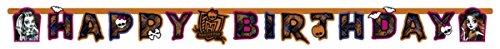 amscan–997964–Lichterkette Happy Birthday Monster High Cemetery–180x 15cm