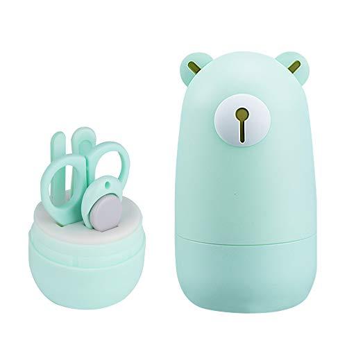 Mostop Baby Nagelknipser Kit Maniküre Set 4 In 1 Pflegewerkzeuge Pediküre Kit Baby Nagelknipser, Schere, Nagelfeile & Pinzette für Neugeborene Kleinkinder Kinder
