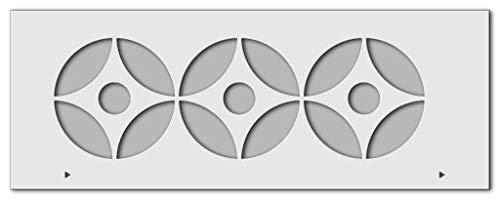 Wandschablone Kreise (80 x 30 cm)