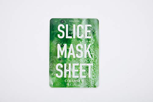 Kocostar Cucumber Slice Mask Sheet, 2er Pack(2 x 1 Stück)