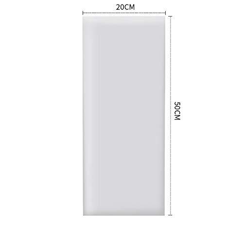 C&NN Wand Mat Wandaufkleber für Home/Kindergarten, einzigartige Leder-Wand-Auflage für Wände Dekor, Baby-Color-Kollisionswand, Selbstklebe-Kissen,Grau,20 cm * 50 cm