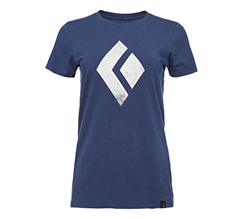 Black Diamond Chalked Up Short Sleeve T-Shirt - Women's, Ink Blue, Small, AP7300524014SML1