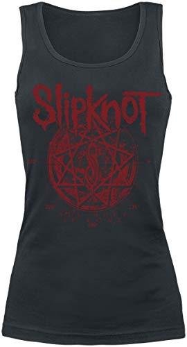 Slipknot Star Symbol Frauen Top schwarz S 100% Baumwolle Band-Merch, Bands