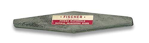 Fischer chairas y afiladores Piedra AFILAR Fischer 240x40x12 mm Cocina Profesional Chef Profesional Acero al Carbono Inoxidable alemán Resistente a Las Manchas 21082 + Portabotellas de regalo