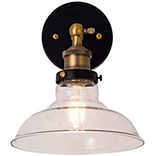 Maxmer Vintage Industrial Wall Light Glass E27 Retro Wall Sconce Lamp Fixtures for Kitchen Dining Room Loft Coffee Bar:Schedulingsoftware