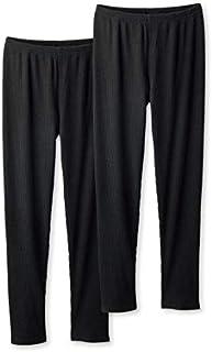 [nissen(ニッセン)] 裏起毛10分丈リブ レギンス 2枚組 大きいサイズ レディース セット組