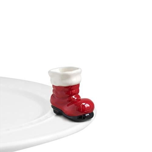 Nora Fleming Hand-Painted Mini: Big Guy's Boots (Santa Boot) A89