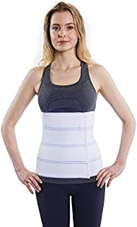 """Best NYOrtho Abdominal Binder Lower Waist Support Belt - Compression Wrap for Men and Women (45"""" - 60"""") 4 PANEL - 12"""" Reviews"""