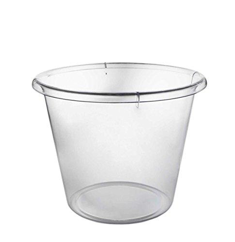 Party Essentials - Cubo de hielo de plástico duro, tamaño extragrande,...