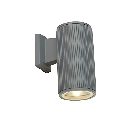 Searchlight Outdoor - Lámpara de pared con difusor de cristal transparente (1 luz), color gris