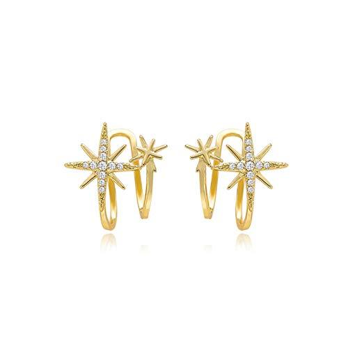 Fashion Cubic Zirconia Ear cuffs Earrings Ear Cuff Without Piercing Clip Earrings For Women Girls Jewelry silver