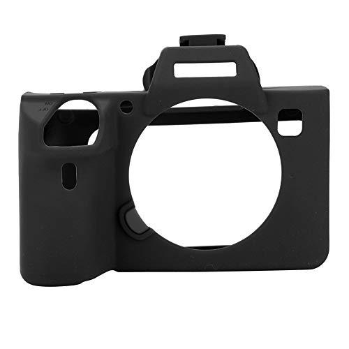 EBTOOLS a7iii Case Silicone Adatto per Custodia Protettiva in Silicone Morbido Custodia in Silicone per Fotocamera Digitale Custodie e Borse per compatte per Sony A7 III A7R3 A7 Mark III(Nero) Adatto