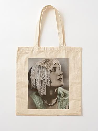 Norma Shearer Fashion Hollywood 1920S Flapper Historical | Einkaufstaschen aus Segeltuch mit Griffen, Einkaufstaschen aus nachhaltiger Baumwolle