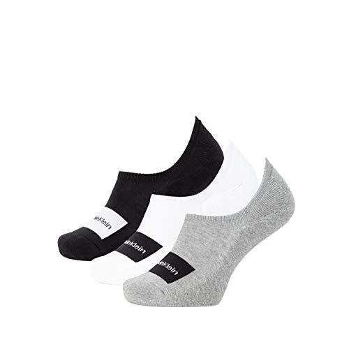 Calvin Klein Socks Mens Liner 3p Bag Joey Socks, Grey Combo, ONE Size