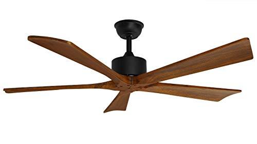 Orbegozo CF 101132 - Ventilador de techo, mando a distancia, silencioso, temporizador, 5 aspas de madera, 132 cm de diámetro, 70 W de potencia