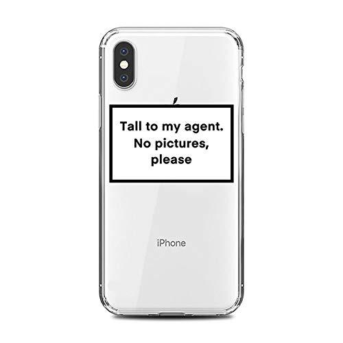 LUOKAOO Funny Letter Phone Case para iPhone 11 8 7 6s Plus Pro X XS MAX XR Fundas Ajustadas Moda Soft Silicone TPU Back Covers Accesorios, 80803, Transparente, para iPhone X XS