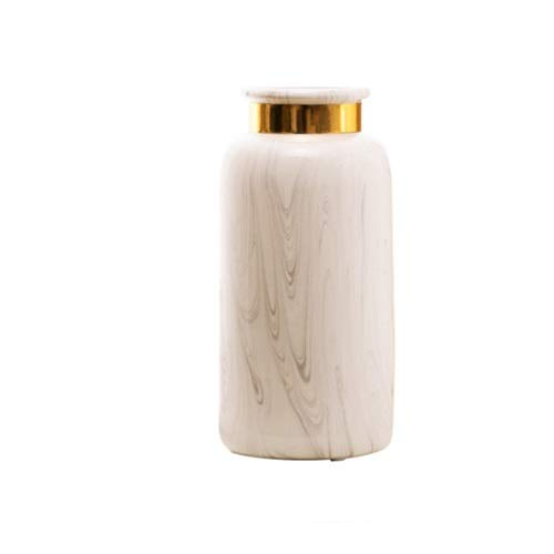 Hwerkf Trace Gold-Marmor-Muster-Keramik-Vase Modern Nordic Ornament Home Interior Wohnzimmer Blumenschmuck Blumengeräte Kleine Verzierungen Dekorative Ornamente Keramik Vase (Color : B)