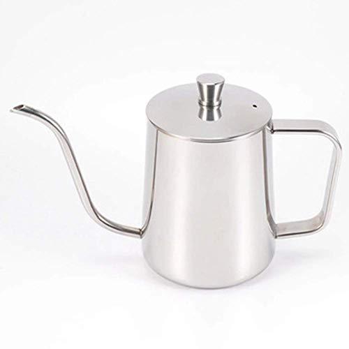 HLJ Bouilloire café main Hanging oreille Cafetière fine bouche Pot 600ml (Color : Silver)
