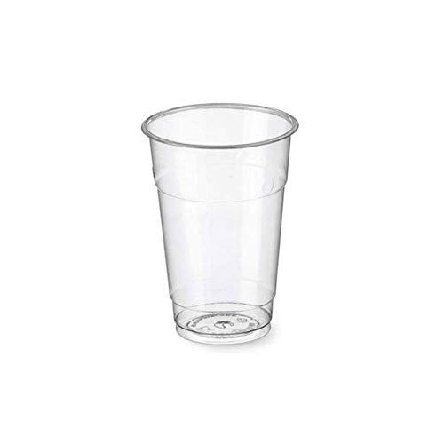 100/500/1000 Bicchieri monouso 400ml tacca 0,3 Biodegradabili e Compostabili in PLA usa e getta Plastic free | After Plastic (100)