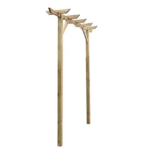 Anself Gartenpergola Anlehn Pergola aus Holz mit drei Pfählen 200 x 40 x 205cm