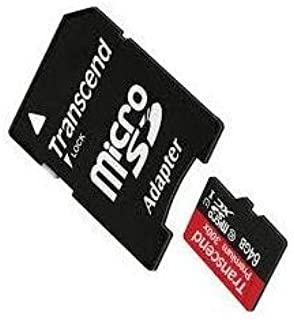 Transcend Card for HDR-CX405 Camcorder Memory Card 64GB microSDHC Memory Card with SD Adapter