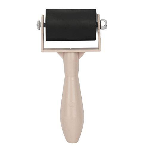 Qioni Brayer para fabricação de impressão, cabo de plástico de 3,5 cm, pintura de tinta flexível, rolo de borracha, ferramenta de pintura de arte, ferramentas de pintura forte poder de ocultação (cor primária)