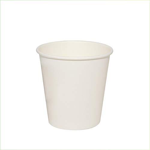 Palucart Lot de 100 gobelets en papier pour eau, 180 ml, couleur blanc biodégradable.