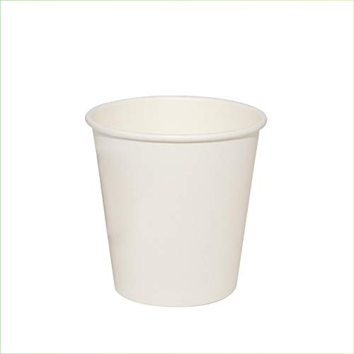 Palucart - 100 vasos de papel para agua, 180 ml, color blanco...