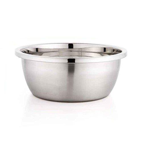 MXJ61 Pot d'acier Inoxydable Rond À la Maison Soupe Bassin Lavage Pots Pots Assaisonnements Poêles Cuisine Boulangerie (Taille : 20cm)