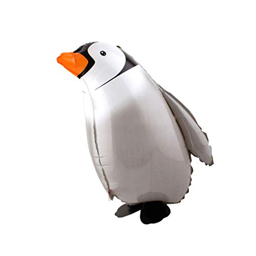 Kisangel 2 Pcs Walking Animal Balloons Aluminum Foil Penguin Balloon Air Walkers Photo Props for Kids Party Theme Birthday Baby Shower Decorations