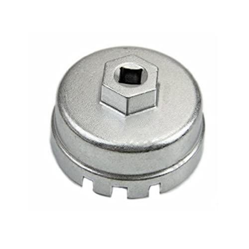 Juego de herramientas de extracción de llave de tapa de filtro de aceite tipo copa de aleación de aluminio compatible con Lexus-Toyota Highlander RAV4 juego de llaves de vaso de filtro de de