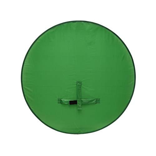 Pantalla de fondo, 2021 de fondo verde, fondo portátil de cámara web para silla, telón de fondo plegable para fotografía de estudio de vídeo, Chroma Key verde, un solo lado, 110 cm