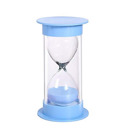 Sand Timer 5/10/15/30/60 minutos, reloj de arena de seguridad para niños, asistente de gestión del tiempo, regalo creativo, decoración de oficina para sala de estar, 30 minutos en azul macarrón