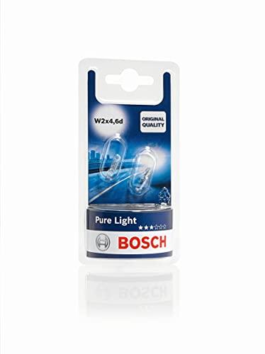 Bosch - Pure Light Lámparas para vehículos - 12 V 1,2 W W2x4,6d - Lámparas x2
