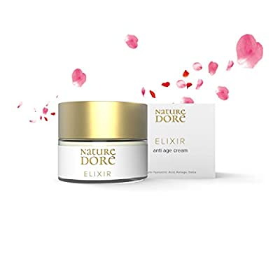 Antiwrinkles Face Cream with Lifting Effect - Anti-Ageing Moisturiser with 3 Hyaluronic Acid (high, low & medium molecular weight) - Detox Face Cream with Algae Extract & Rose Water.Bio