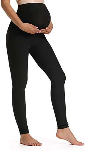 Foucome Women s Maternity Leggings Over The Belly Pregnancy Active Workout Yoga Tights Pants product image