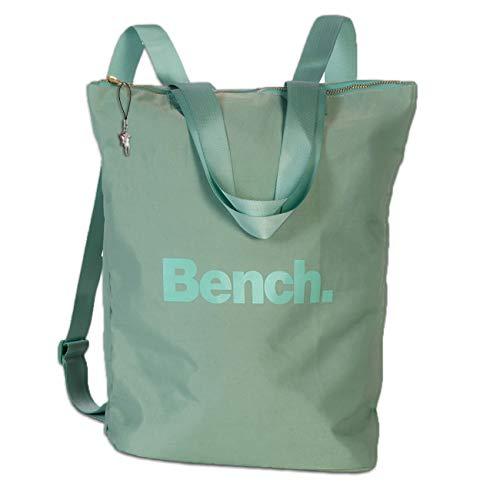 Bench stylischer Cityrucksack pastellgrün 30x40x13 Rucksack Nylon Tasche D3ORI303L Nylon Rucksack für die Frau, für Jugendliche